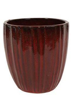 Doniczka osłonka Scott deep red L 33x35cm