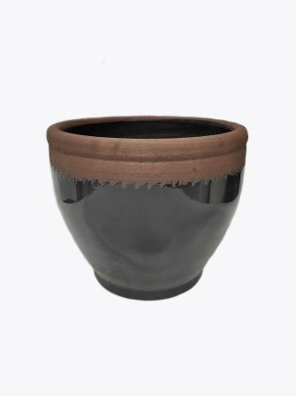 Doniczka ceramiczna czarna Ø24cm