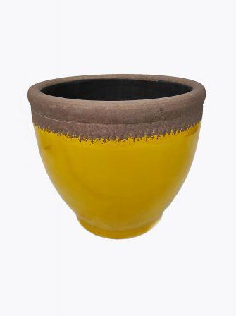 Doniczka ceramiczna żółta Ø24cm