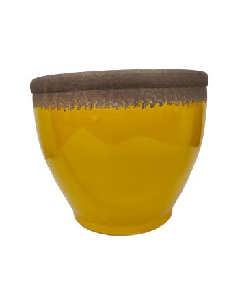 Doniczka ceramiczna żółta Ø39,5cm