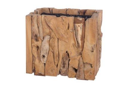 Drewniana donica kwadrat 38x38cm